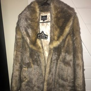 NWT Angie Faux Fur coat